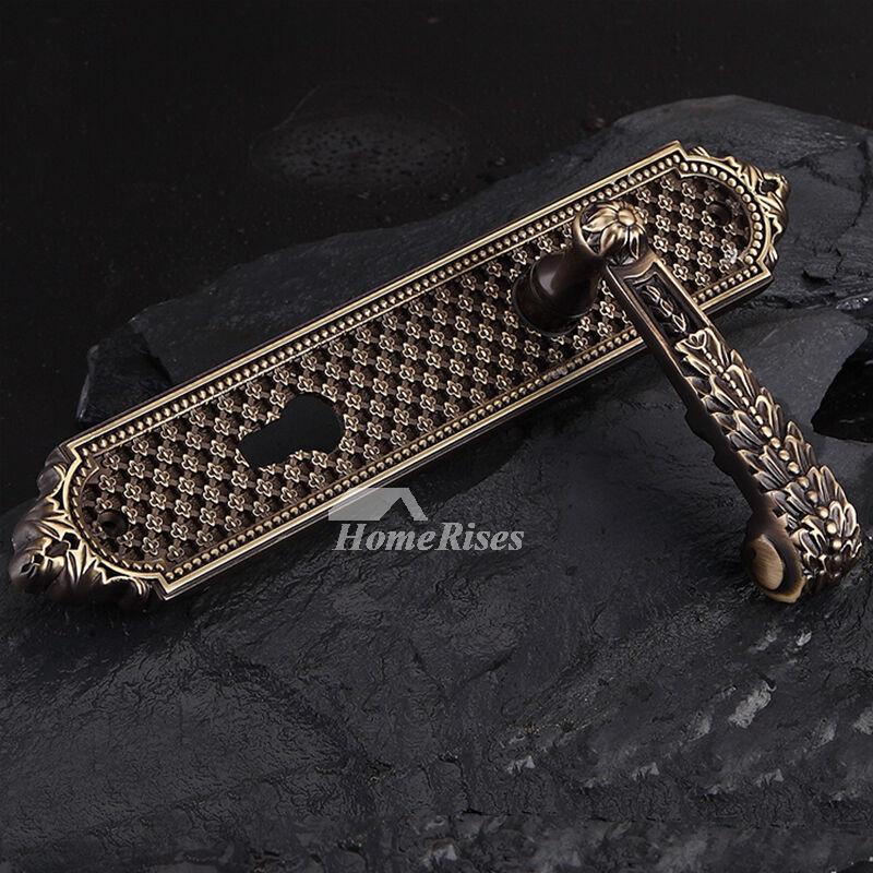 Modern Pastoral Luxury Antique Bronze Rose Gold Bedroom Door Lock