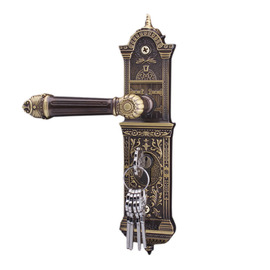 Modern Country Solid Wood Door Lock | Antique Bronze Bedroom Lock