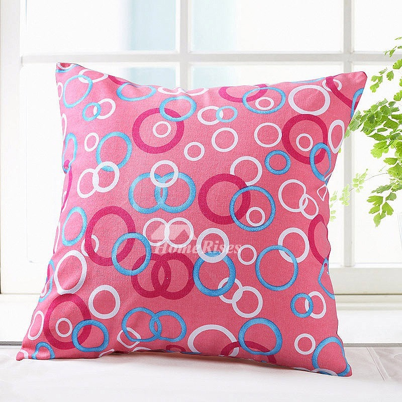 Geometrical Cotton Red Couch Large Cheap Throw Pillows