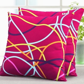 Striped Square Red Throw Pillows For Couch Two Sell Together