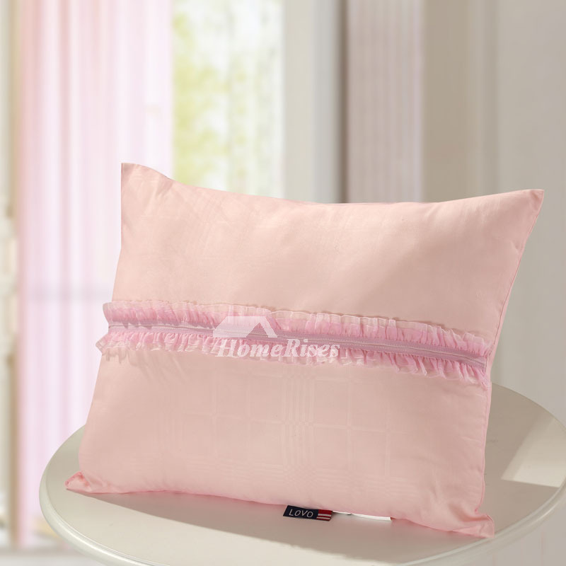 Couch Rectangle Striped Cute Polyester Fiber Blush Throw