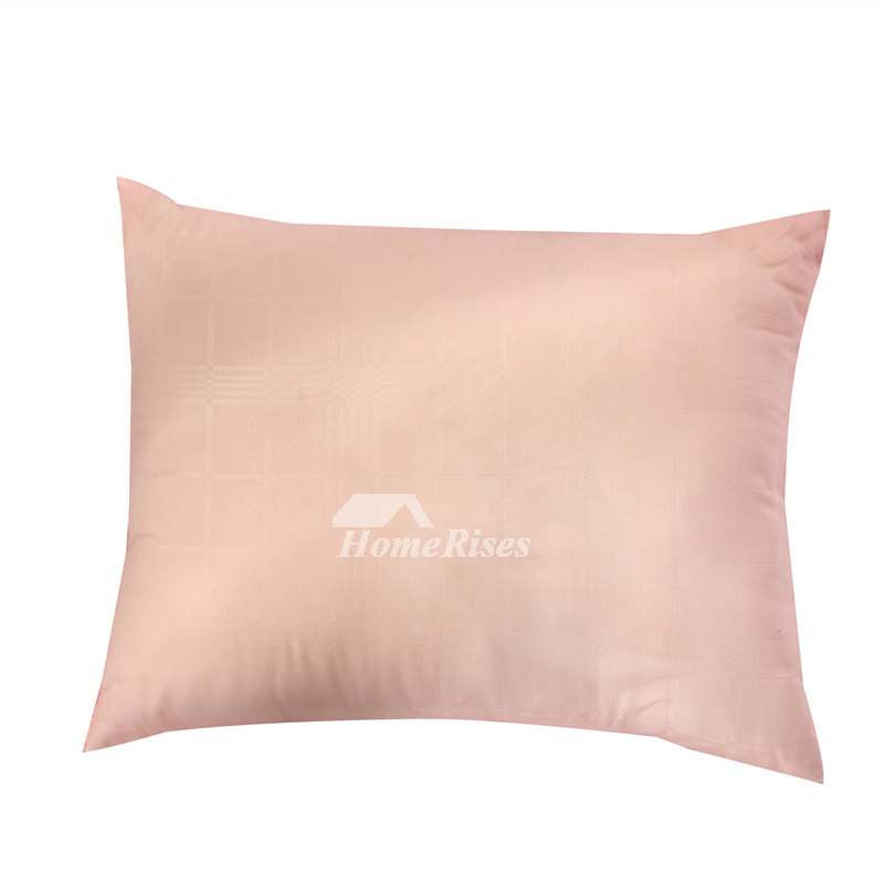 Couch Rectangle Striped Cute Polyester Fiber Blush Throw Pillows