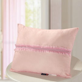 Couch Rectangle Striped Cute Polyester Fiber Pink Throw Pillows