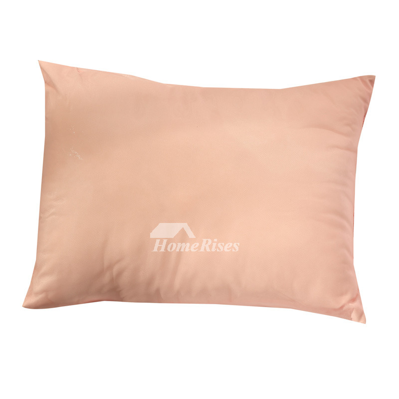 Cute Polyester Fiber Couch Rectangle Flower Blush Throw Pillows