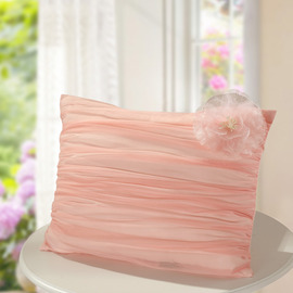 Cute Polyester Fiber Couch Rectangle Pink flower Throw Pillows