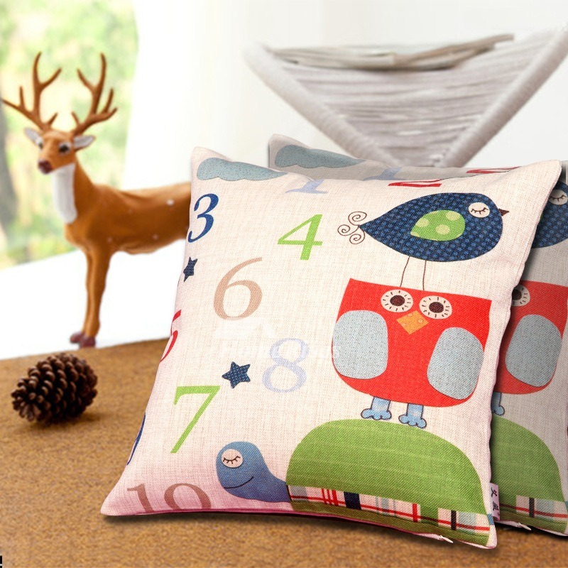 Kids Fun Colorful Couch Square Discount Throw Pillows