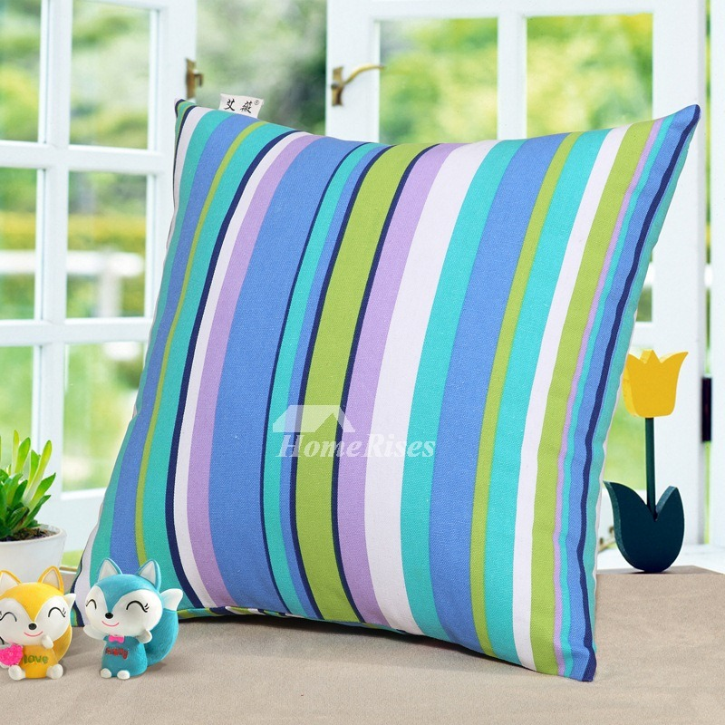 Colorful Striped Canvas Couch Country Cheap Couch Pillows