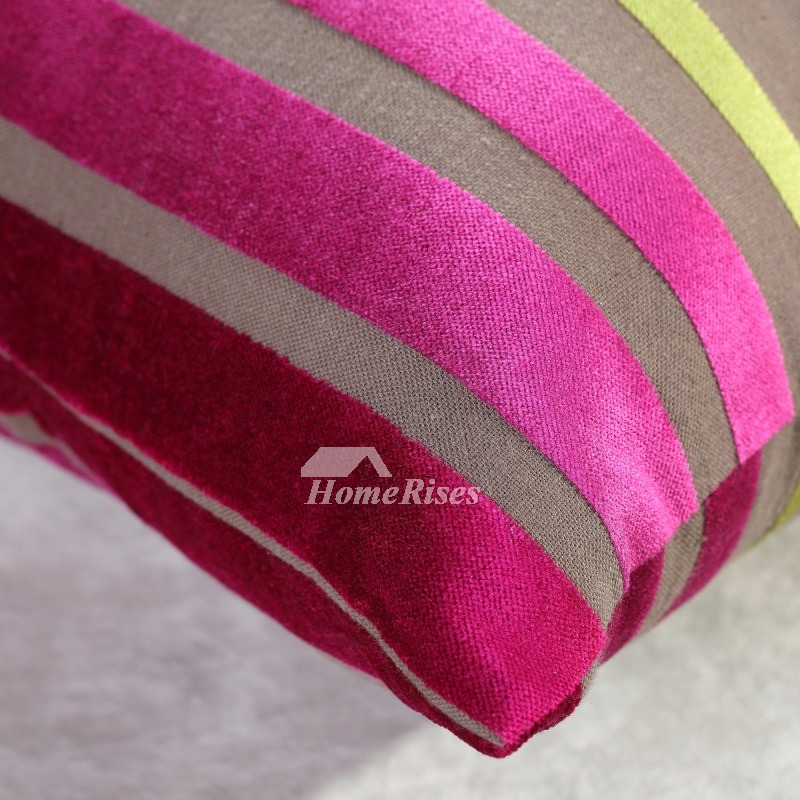 Colorful Striped Square Discount Cotton Couch Pillows