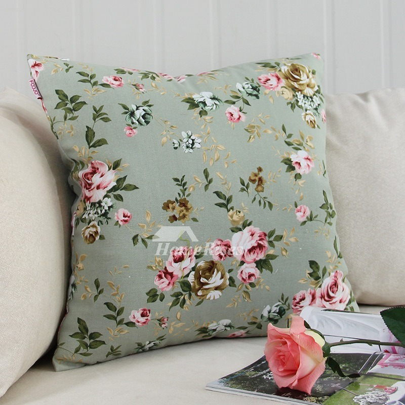 Throw Pillows For A Floral Couch : Fall Floral Polyester Fiber Square Decorative Pillows For Couch