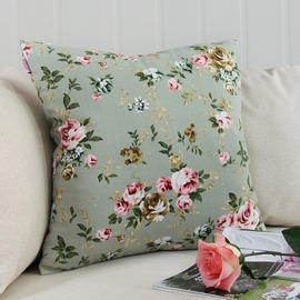 Fall Floral Polyester Fiber Square Decorative Pillows For Couch