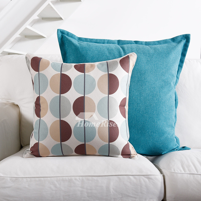Modern Paisley Square Colorful Couch Pillows