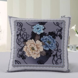Country Lavender Couch Square Floral Throw Pillows