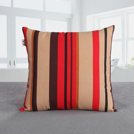 Unique Colorful Couch Square Striped Throw Pillows