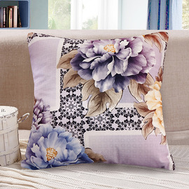 Fall Colorful Floral Polyester Fiber Square Couch Throw Pillows