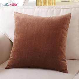 Cool Tan Solid Color Polyester Fiber Square Large Throw Pillows