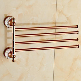 Pink Rose Gold antique Towel Bars