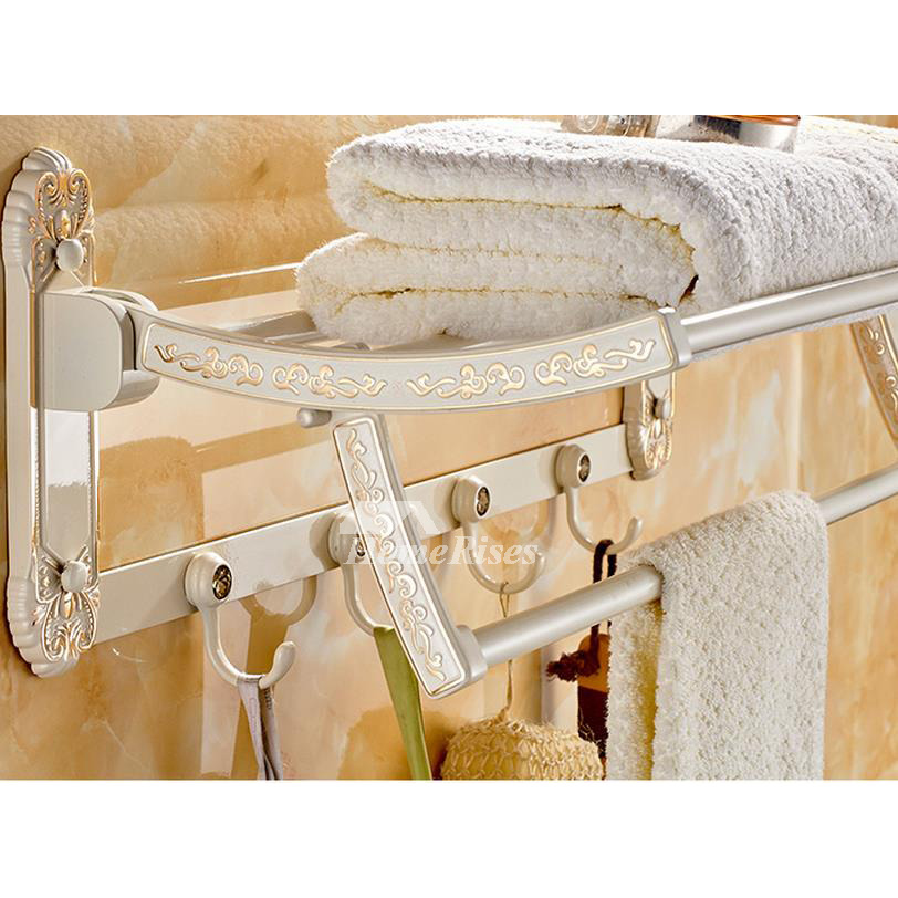 White Painting Antique Towel Rack