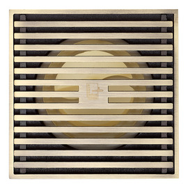 Qst-50 Automatic Sealing Brushed Antique Brass Square Shower Floor Drain