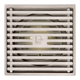 Qst-40 Deodorant Matte Silver Brass Square Shower Floor Drain
