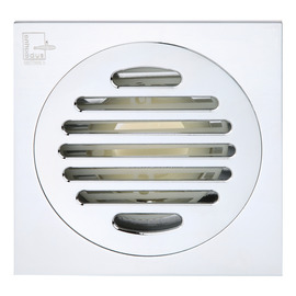Qst-40 Modern Brass Polished Chrome Square Shower Floor Drain