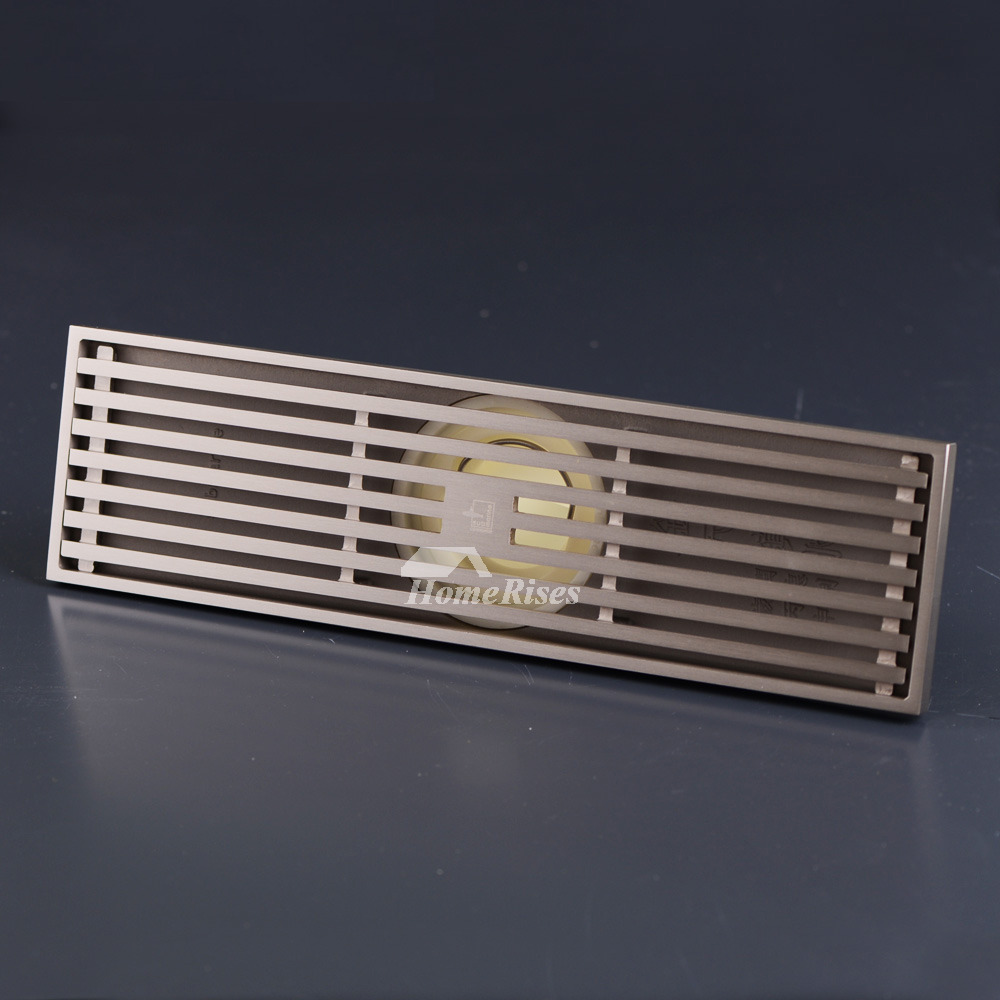 Qst 50 Luxury Brushed Nickel Linear Brass Shower Drain