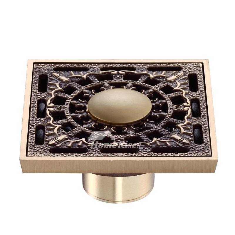 Ke 50 Best Antique Brass Fine Square Shower Floor Drain