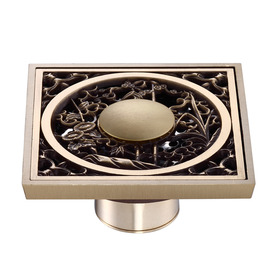 Ke-50 Best Antique Brass Fine Square Shower Floor Drain