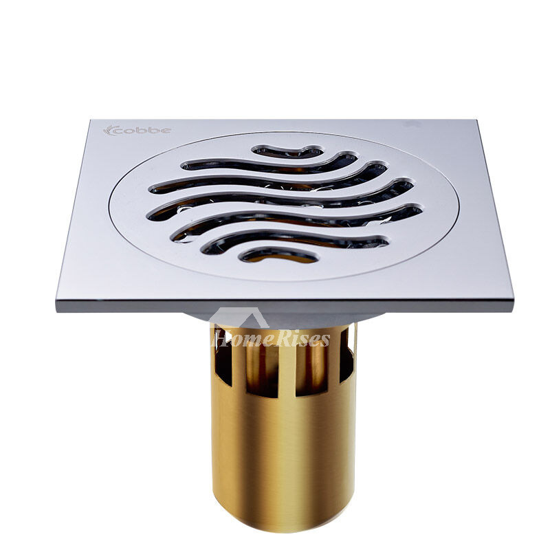 Cb 50 4 Color Deep Water Fine Brass Square Shower Floor Drain