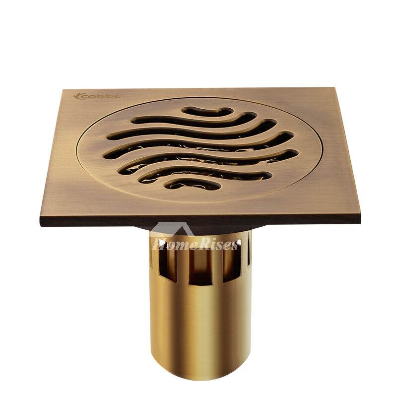 CB-50 4 Color Deep Water Fine Brass Square Shower Floor Drain