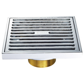 CB-50 Parallel Fine Brass Square Shower Floor Drain