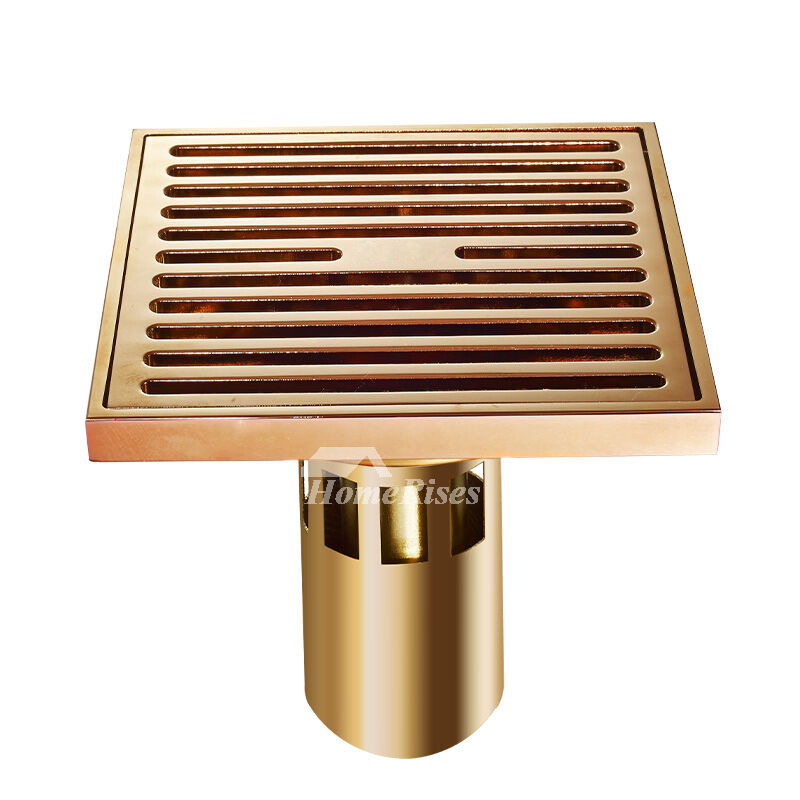 CB-50 3 Color Deep Water Parallel Brass Square Shower Drain