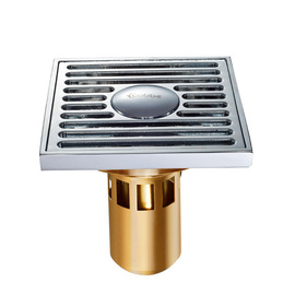 CB-50 3 Color Deep Water Fine Brass Square Shower Drain