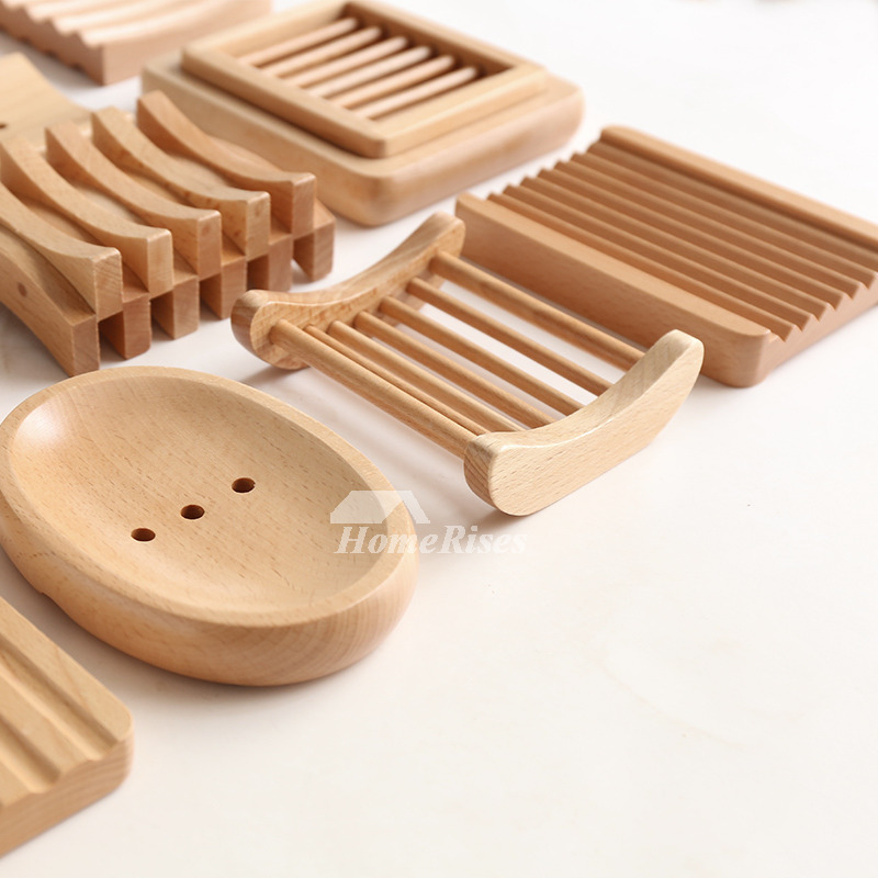 MUS Simple Japanese Style Wooden Soap Dish No.6 - 10