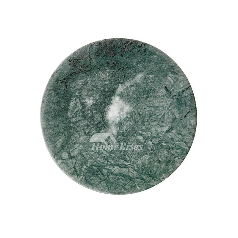 Calme Disc Dark Green Indian Marble Soap Dish