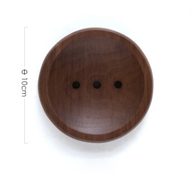 Simple Style Black Walnut Wooden Draining Soap Dish