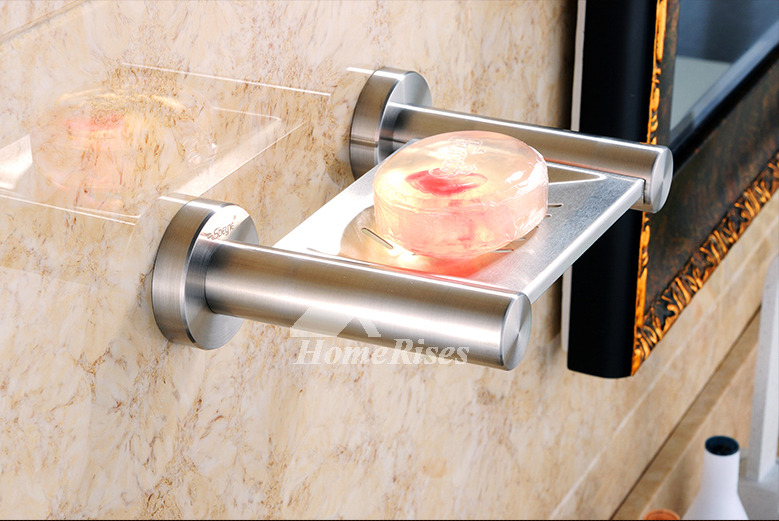 XBLE Brushed Stainless Steel Wall Mounted Draining Soap Dish
