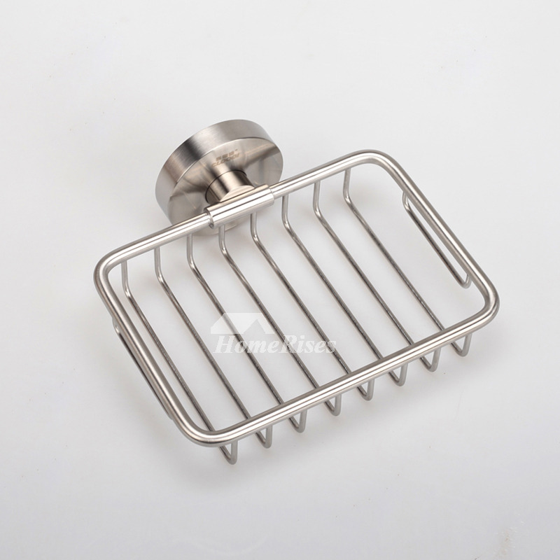 KLD Brushed 304 Stainless Steel Wall Mounted Draining Soap Dish