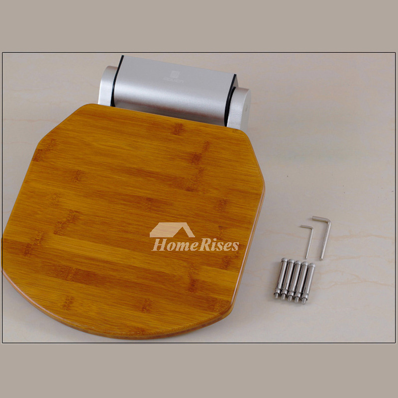 DPXE Bamboo | Teak Wood Wall Mounted Folding Shower Seat