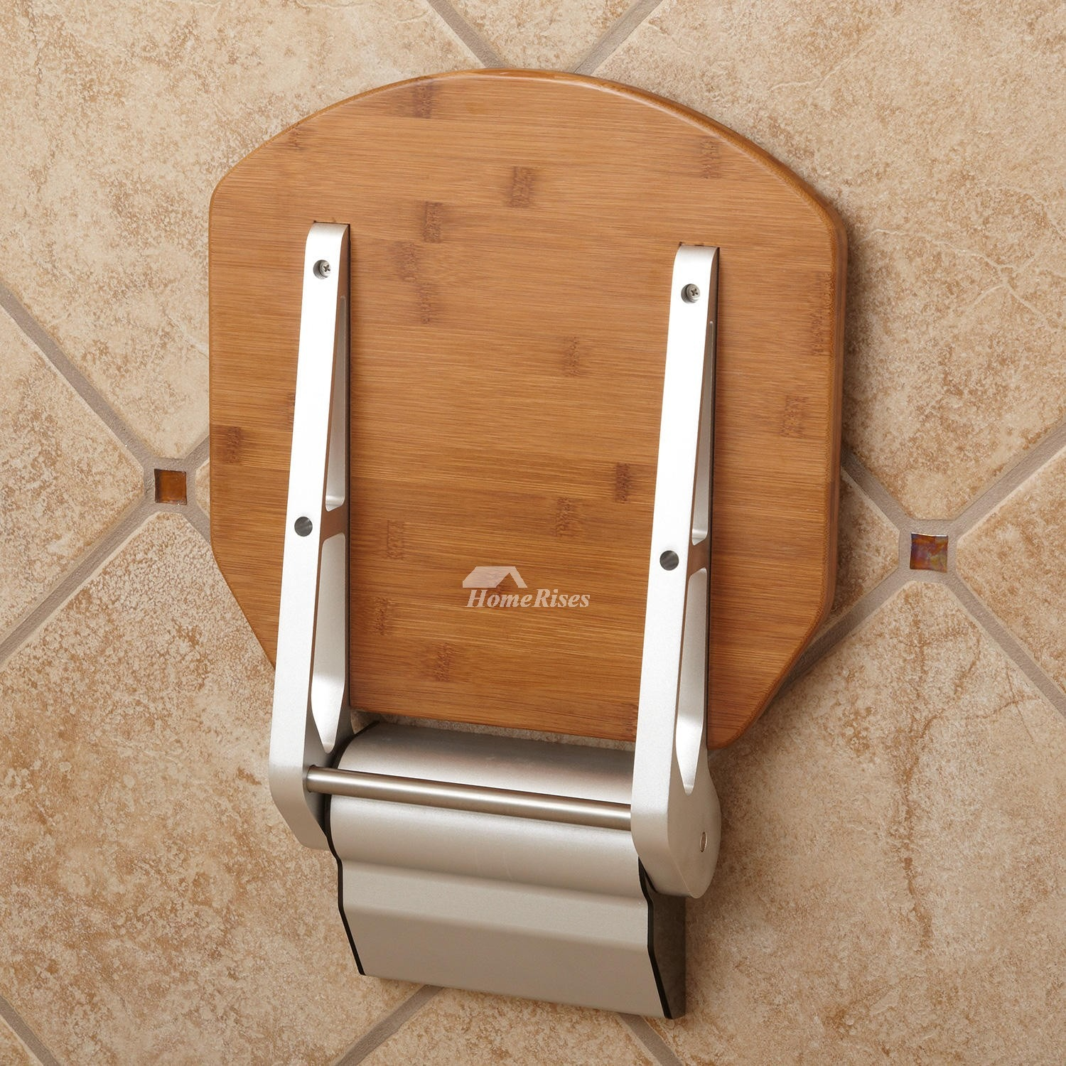 Bamboo | Teak Wood Wall Mounted Folding Shower Seat