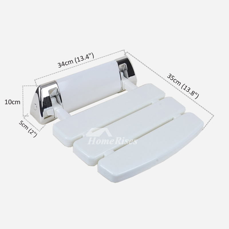 High Strength Plastic And Aluminum Wall Mounted Folding Shower Seat