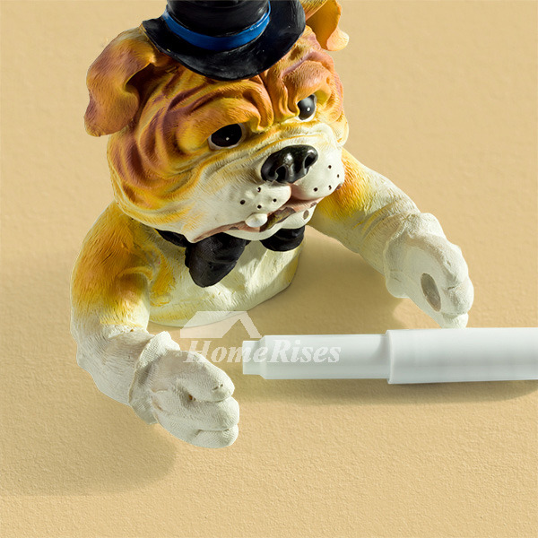 Funny Cute Wall Mounted Dog Toilet Paper Holder