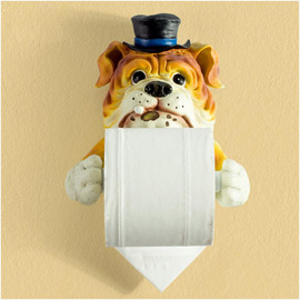 Unusual Funny Cute Wall Mounted Dog Toilet Paper Holder