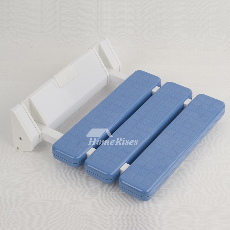 Simple Plastic Wall Mounted Non-Slip Folding Shower Seat