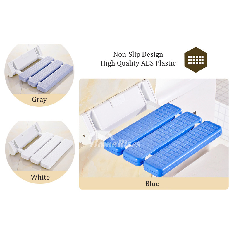 Simple Plastic Wall Mounted Non Slip Folding Shower Seat