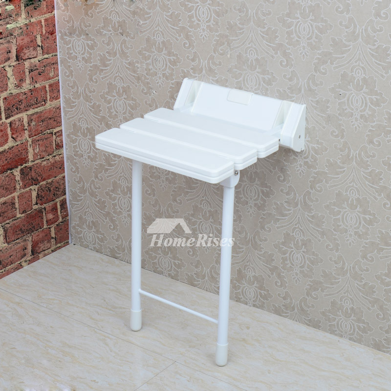 Simple 5 Color Wall Mounted Folding Shower Seat