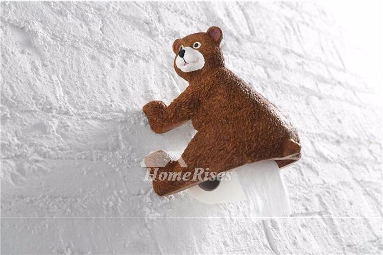Unique Simple Wall Mounted Bear Toilet Paper Holder