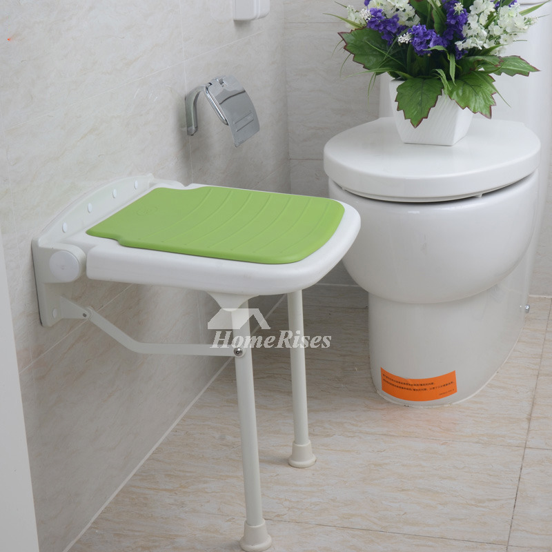 Modern Adjustable Height Wall Mounted Folding Shower Seat