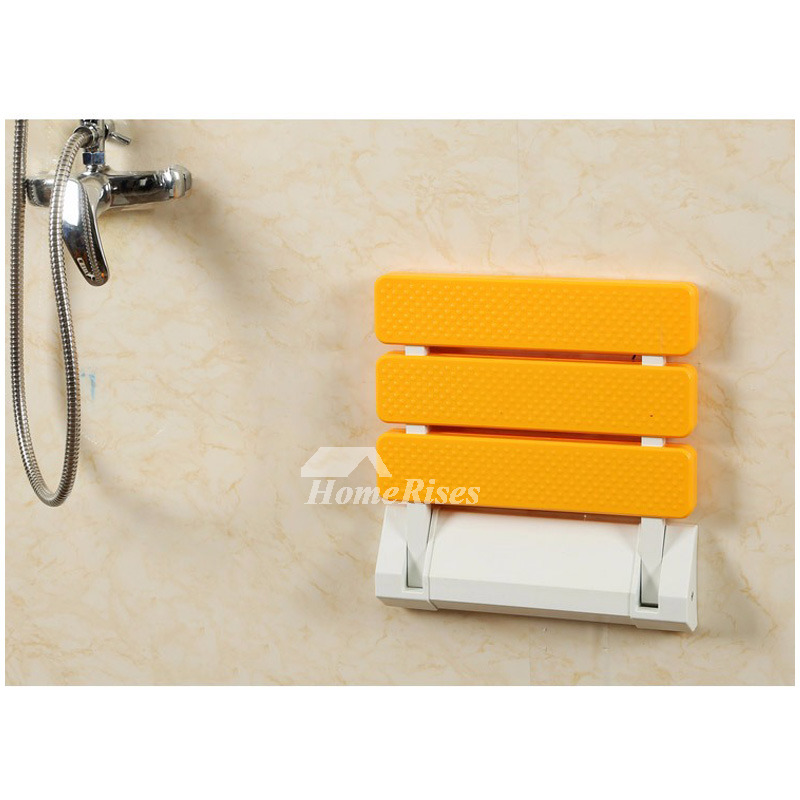 High Strength Wall Mounted Plastic Folding Shower Seat For
