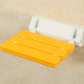 High Strength Wall Mounted Plastic Folding Shower Seat For Elderly