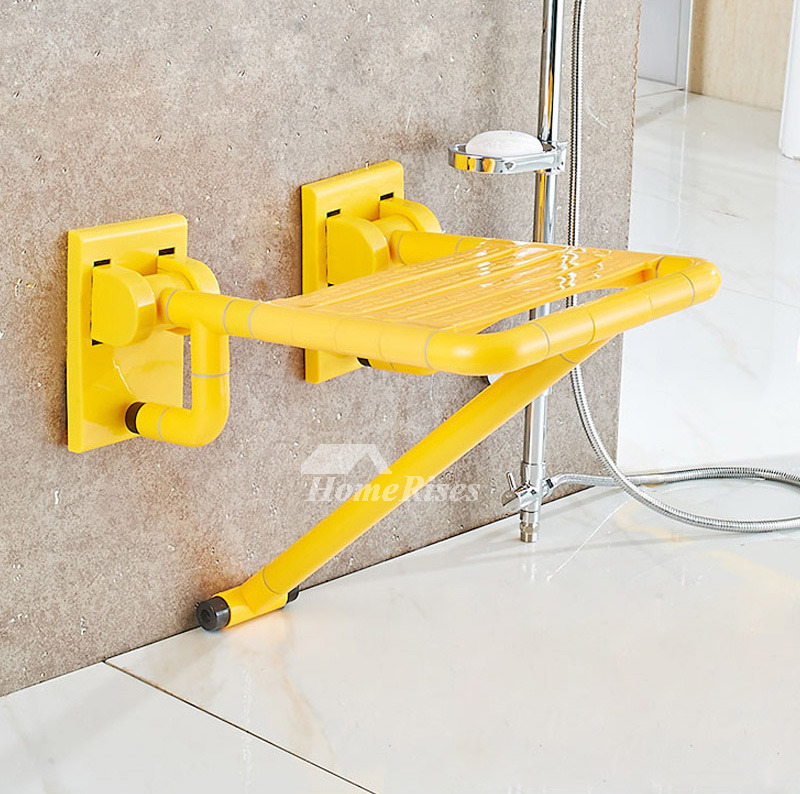 XKM ABS Plastic Wall Mounted Stainless Steel Folding Shower Seat